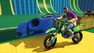 CORRE O TE ATROPELLO!! - COCHE TURBO vs MOTO!! - MINIJUEGO (GTA V ONLINE)