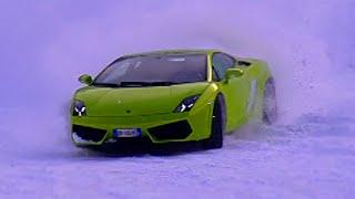 Drifting A Lamborghini Gallardo On Snow #TBT - Fifth Gear