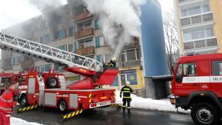 Požár v ulici Vysoká