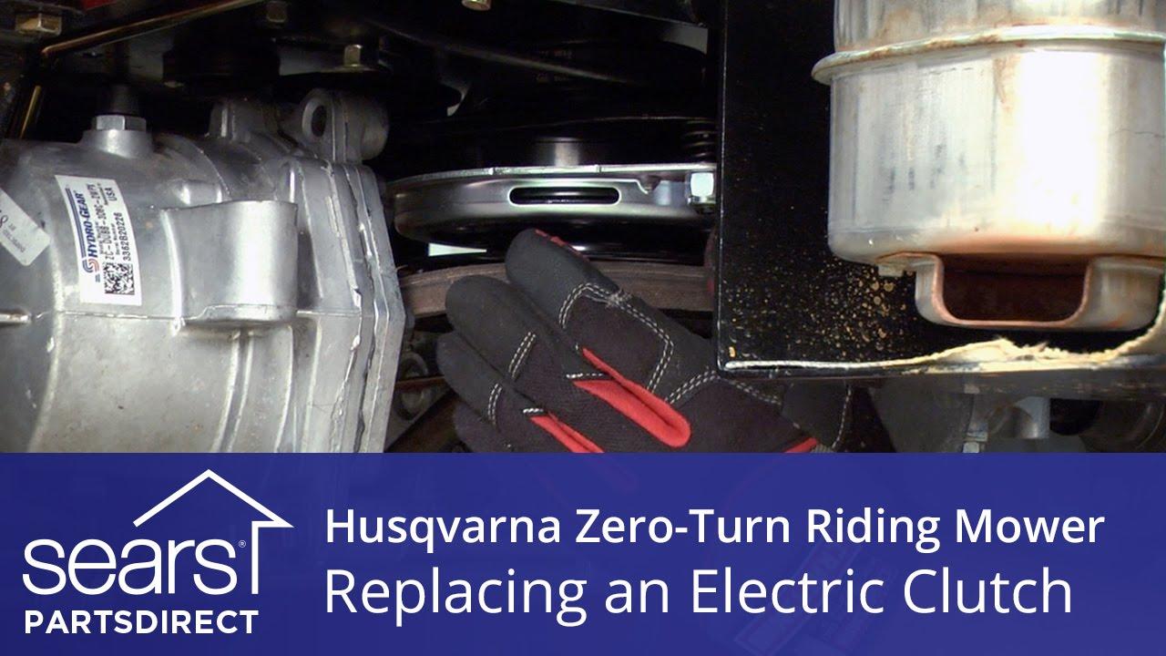 how to replace a husqvarna zero turn riding mower electric clutch [ 1280 x 720 Pixel ]