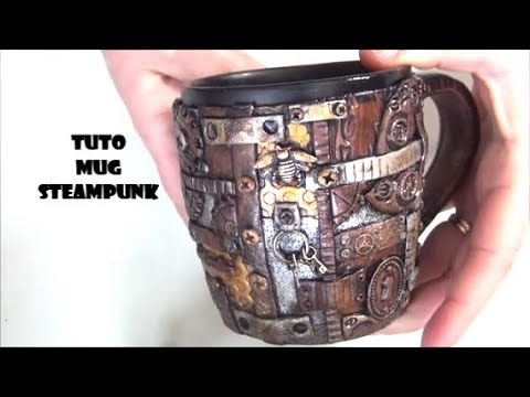 tuto fimo mug tasse steampunk polymer clay tutorial cover youtube. Black Bedroom Furniture Sets. Home Design Ideas