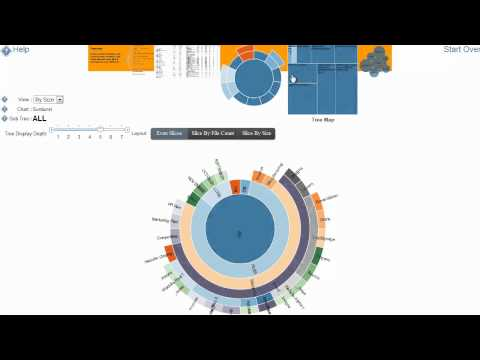 Demo of the HTML5 File System Visualizer