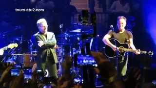 "Bruce Springsteen joins U2 on stage for ""I Still Haven't Found What..."