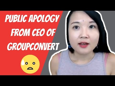 Public Apology From CEO Of GroupConvert