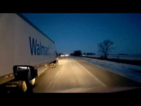 Bigrigtravels Live! - Morris to Rochelle, Illinois - February 9, 2017