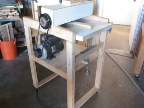 how to build a thickness sander