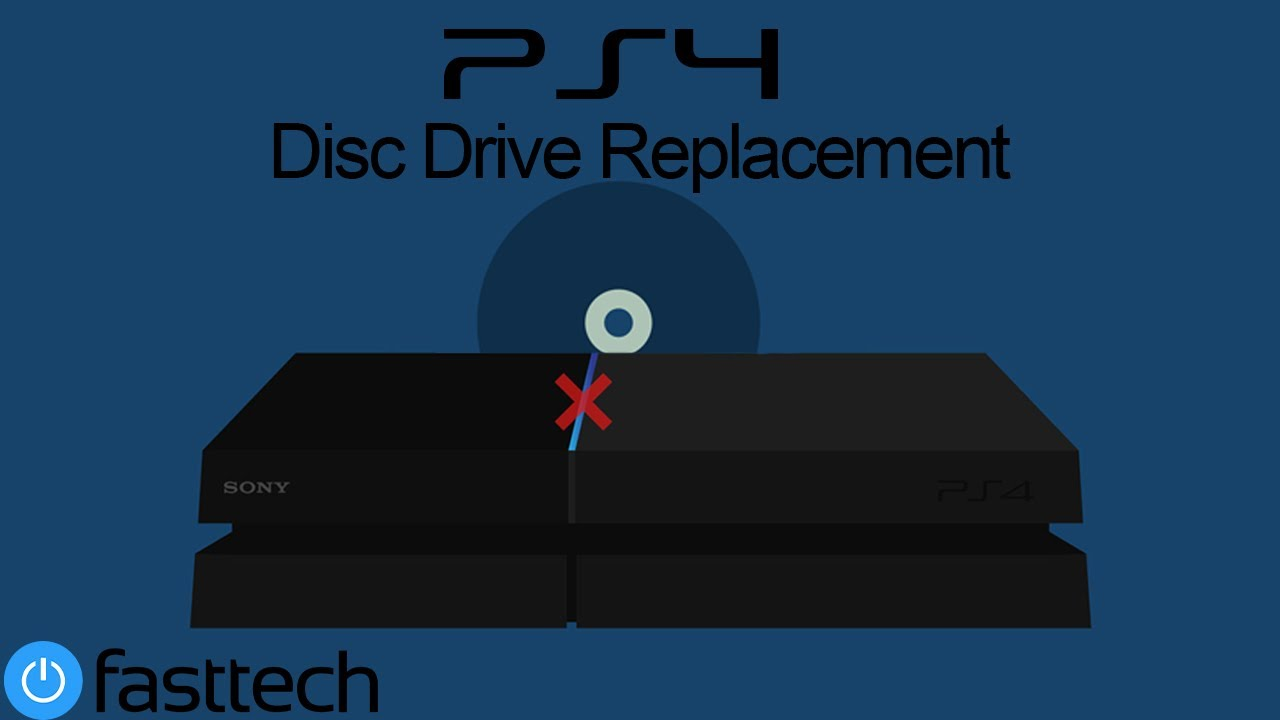 PS4 First Gen Disc Drive Replacement - YouTube
