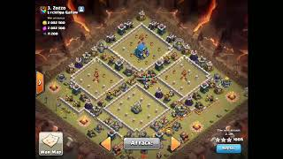 Town Hall 12 three starred with 9 LAVAS AND 10 BAT SPELLS!