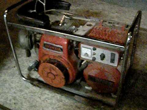 Honda e2500 generator g300 engine 6hp youtube for Generator with honda motor