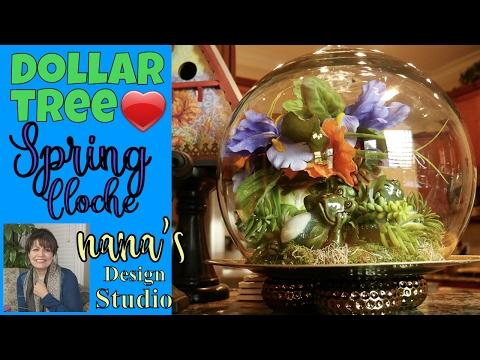 dollar-tree-cloche:-summer-froggies-under-the-dome,-do-it-yourself-cloche-&-dollar-tree-froggies!