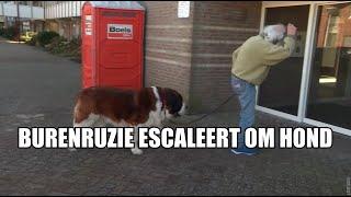 Burenruzie escaleert: Dick maakt ruzie om z'n grote hond