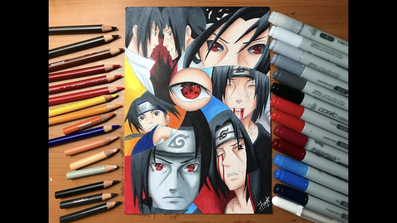 Speed Drawing - Sasuke & Itachi Uchiha (Naruto Shippuden ...