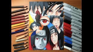 Speed Drawing - Sasuke & Itachi Uchiha (Naruto Shippuden) [HD]
