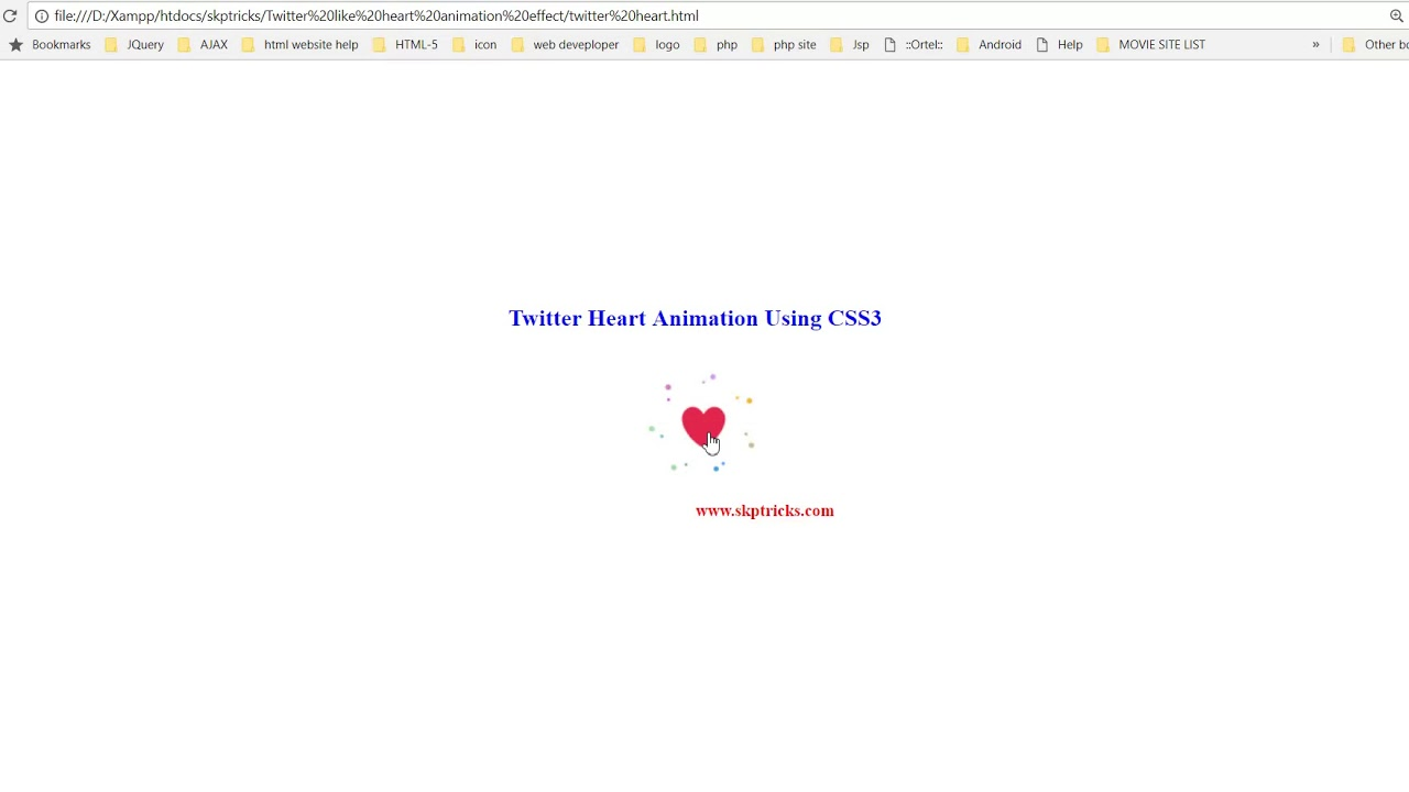 Twitter Heart Button Animation Using CSS3 - YouTube