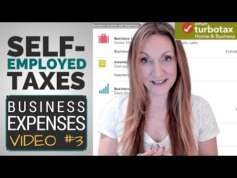 What Can I WRITE-OFF? Self-Employed Business Expenses [Taxes In TurboTax Video #3]