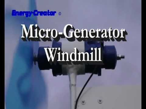 micro windmill / wind turbine with micro DIY PMG generator of www ...