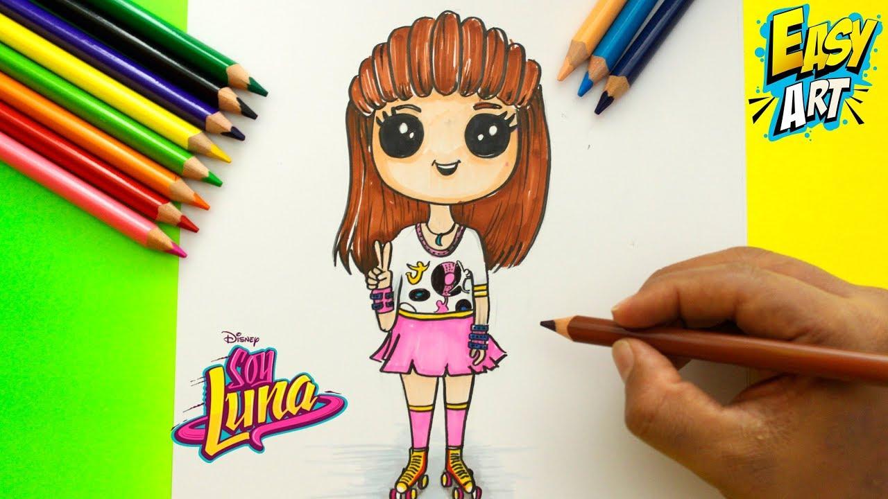 Soy Luna Karol Sevilla Estilo Cute Como Dibujar A Luna Dibujos Fáciles