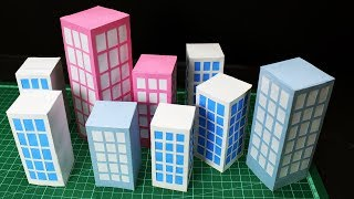 How to make Paper Building -- school project work