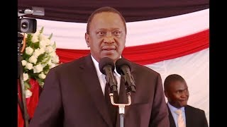 Uhuru Kenyatta FULL SPEECH at JOSEPH KAMARU funeral service BURIAL!!!