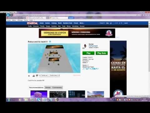 Roblox hack robux and tix
