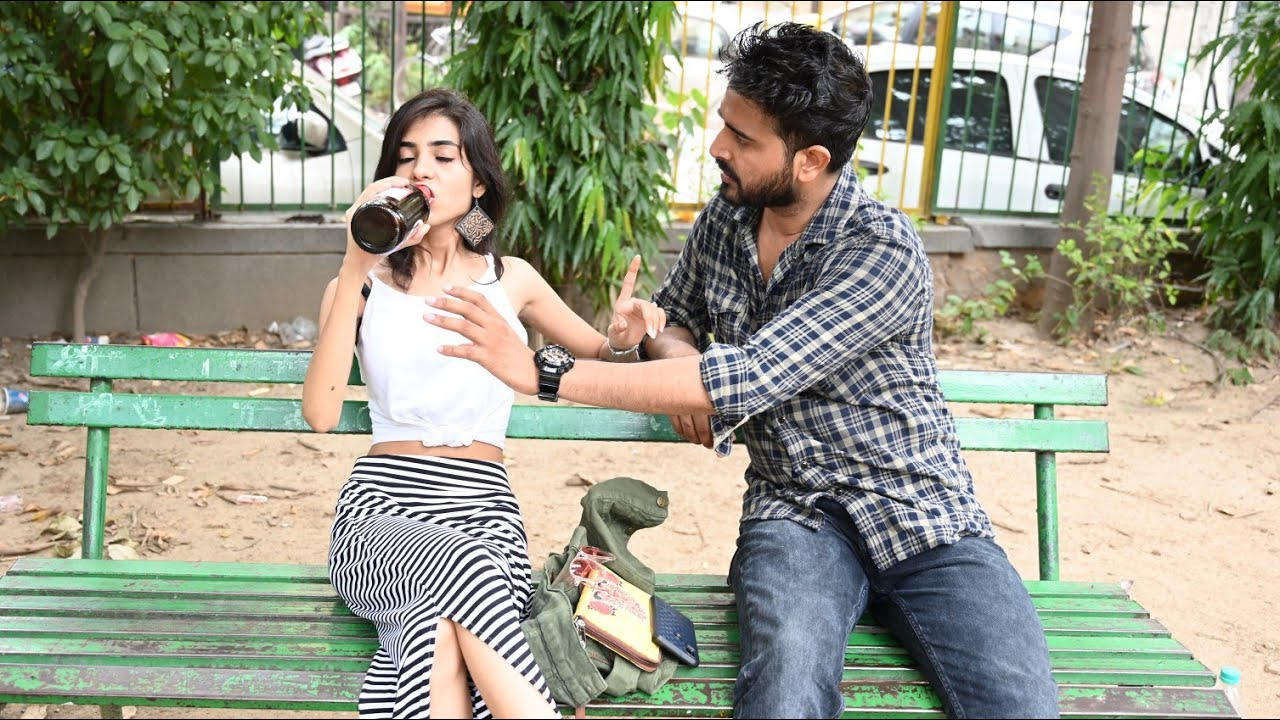 Download What Happend When Girl Drinking IN Public Place..| Yash Choudhary