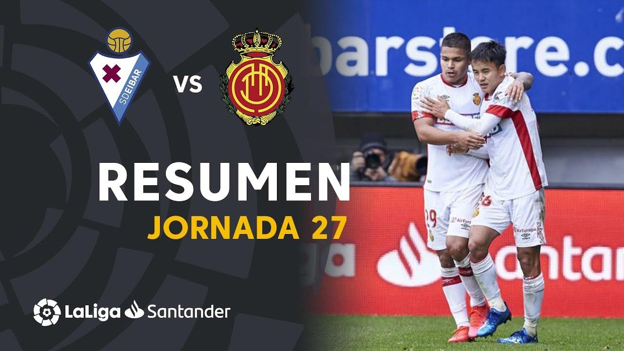 Resumen de SD Eibar vs RCD Mallorca (1-2)