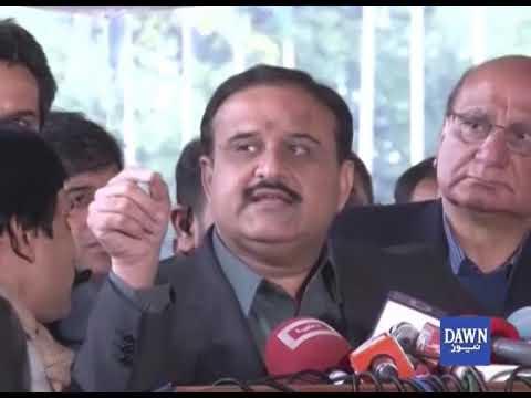 CM Punjab Usman Buzdar's media talk