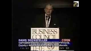David Rockefeller a kontrola populacji [1994]