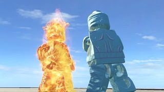 LEGO Human Torch vs Iceman - LEGO Marvel Super heroes