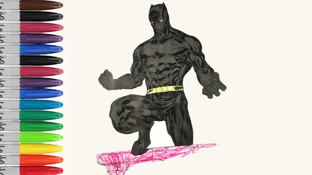 black panther muscle body coloring pages sailany coloring kids