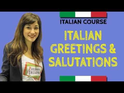Italian Course - How to say hello in Italian