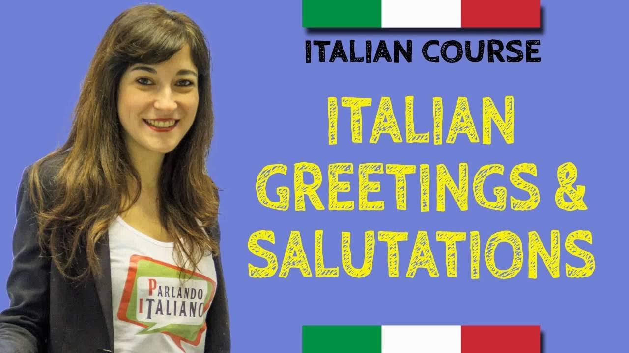 Italian Course How To Say Hello In Italian Youtube
