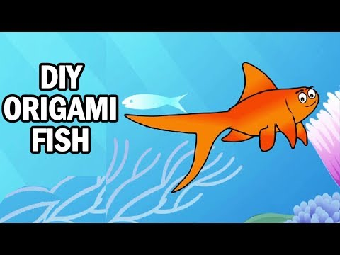 Learning Videos For Kids | How To Make An Origami Fish | Art And Craft Videos | DIY | Ultra Crafts