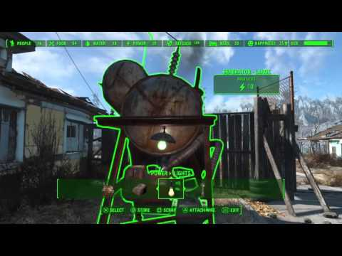Fallout 4 - Settlement Tips - How to Set Up Power, Generators, Power Conduits, and More