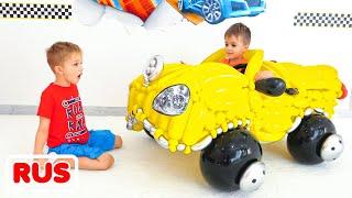 Веселые истории о том, как Влад и Никита играют с детскими машинками