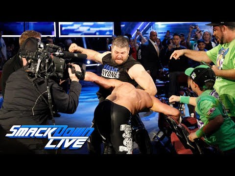 Kevin Owens & Sami Zayn attack Dolph Ziggler and Baron Corbin: SmackDown LIVE, Feb. 13, 2018