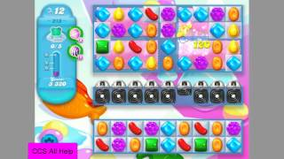 Candy Crush Soda Saga Level 218 NO BOOSTERS