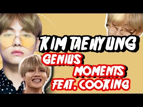 BTS V KIM TAEHYUNG genius moments feat cooking