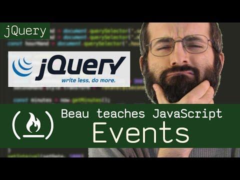 jQuery events - Beau teaches JavaScript
