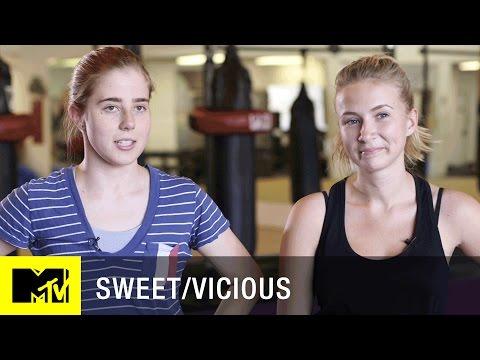 'Fight Training w/ Eliza & Taylor' Official Clip | Sweet/Vicious (Season 1) | MTV