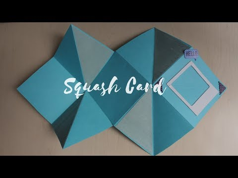 DIY: Basic Squash Card tutorial video | Easy handmade card idea for Teachers day