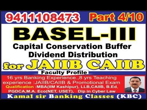 BASEL 3 III Part 4 Minimum Capital Conservation Buffer For  CAIIB By Kamal Krishna  07062018