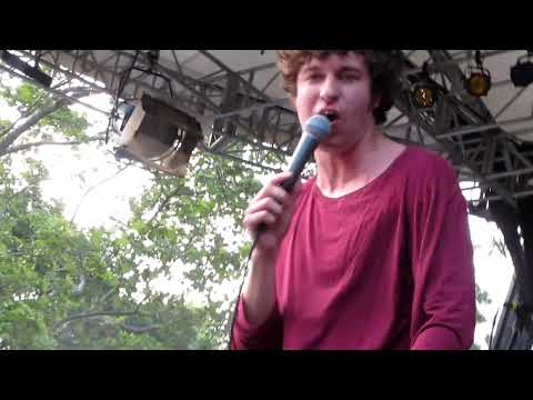 The Kooks - sofa song @ central park, May  (luke pritchard with no underwear ;)