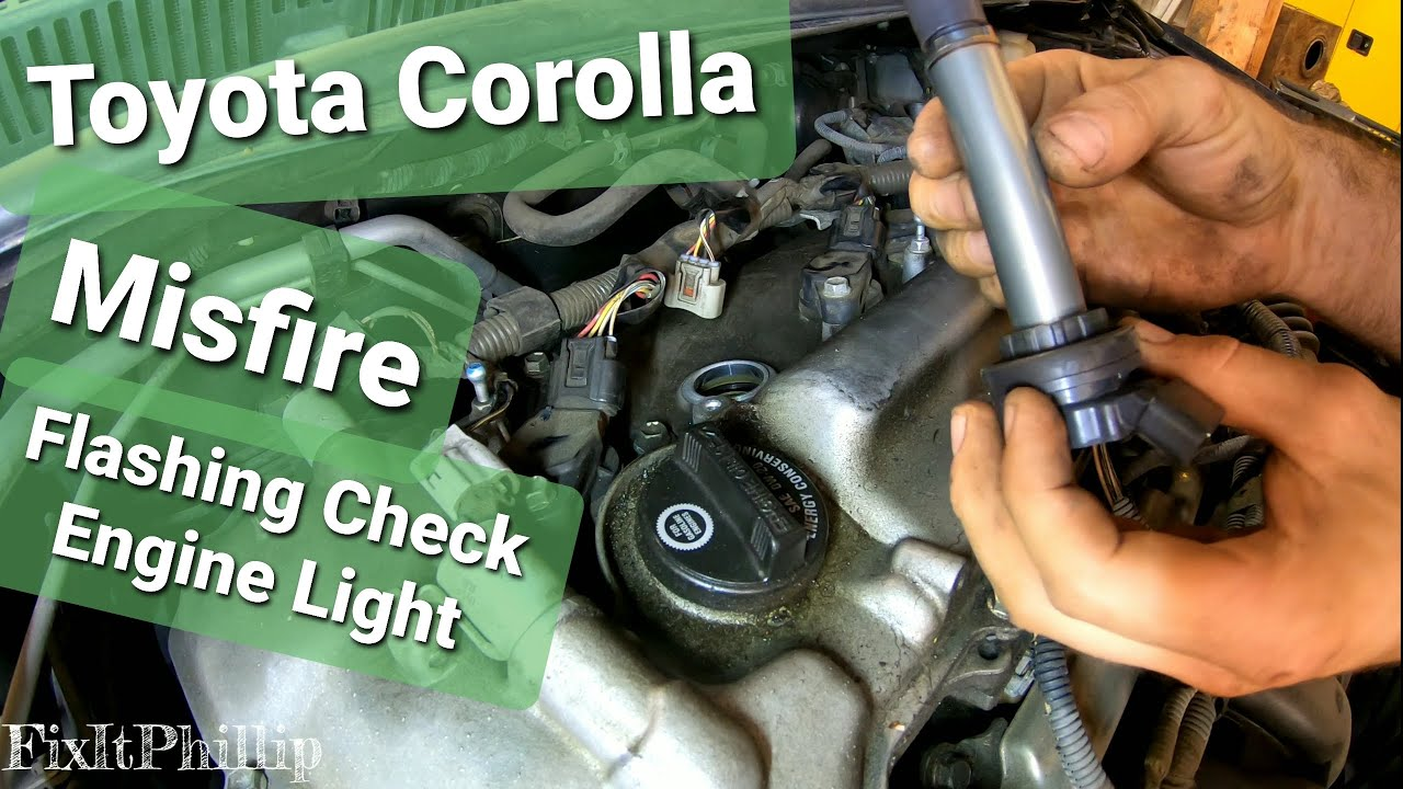 09 Toyota Corolla Misfire Fix 1 8 Coil And Spark Plug Replacement Youtube