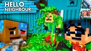 The Neighbor PRANK GONE WRONG!! Hello Neighbor vs Minecraft! (Superheroes Roleplay)