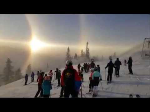 Spectacular sun halo seen in Sweden norway