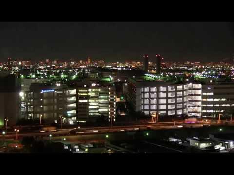 【微速度撮影】川崎の夜景 Night View of Kawasaki City,Kanagawa,Japan.