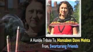 He Nath Jodi Hath Shradhdhanjali to Hansaben Dave Mehta