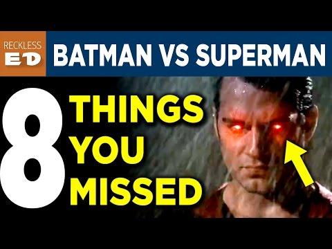 BATMAN VS SUPERMAN Trailer 2 Easter Eggs - 8 Things You Missed - Reckless Ed