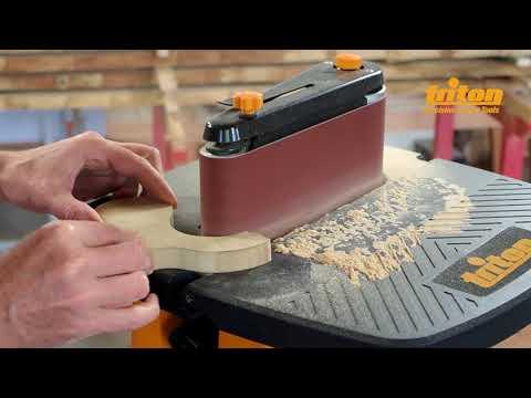 Ponceuse à bande et à cylindre oscillant 450 W TSPST450 Triton
